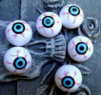 Kunststoff Augäpfel Pongball (Halloween Augäpfel)