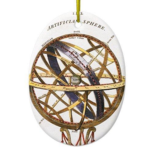 Weihnachten Ornament Crafts Vintage Astronomie, künstliche Bereich, Erde, Globe Oval Weihnachtsbaum Dekorationen Jahrestag Geschenk (Vintage Astronomie)