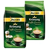 Jacobs Krönung Caffè, Crema Clásica, Granos Enteros, 2 Unidades de 1000 g