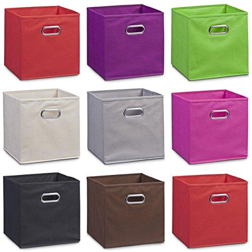 Schrankkorb Regalkorb Stoffbox Vlies in grün 32x32x32cm für IKEA Kallax expedit Dröna und anderen Farben zum auswählen