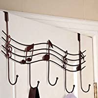 Plzlm Home Bathroom Kitchen Coat/Hat/Bag Metal Music Style Hook Hanger Organizer Iron
