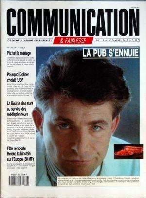 COMMUNICATION [No 96] du 24/10/1988 - LA PUB S'ENNUIE - PLIZ FAIT LE MENAGE - POURQUOI DOLINER CHOISIT L'UDF - GILBERT GROSS - LA BOURSE DES STARS AU SERVICE DES MEDIAPLANNEURS - FCA REMPORTE HELENA RUBINSTEIN SUR L'EUROPE