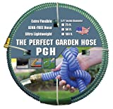 """Tuff-Guard The Perfect Garden Hose, Kink Proof Garden Hose Assembly, Green, 5/8"""" Male"""