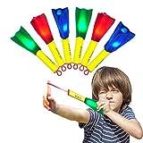 iVENUS Enfant Jouet Jeu de Plein air Rocket 6 Pack LED Rubber Band Mousse Fusée Finger Rockets - Jeu de vol de tir Plaisir en Plein air Cadeau de Camping