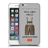 Official Emoji Lederhosen Oktoberfest Soft Gel Case for Apple iPhone 6 Plus / 6s Plus