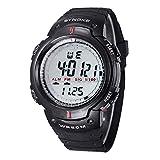Hombres deportes Reloj - SYNOKE Hombres digital Reloj LED deportes cuarzo alarma fecha reloj de pulsera (negro)