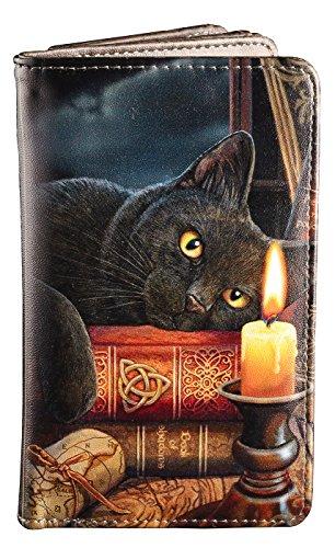 Geldbörse mit schwarzer Hexen Katze | The Witching Hour by Lisa Parker | Gothic Fantasy Geldbeutel Portemonnaie (Schwarze Katze Geldbörse)