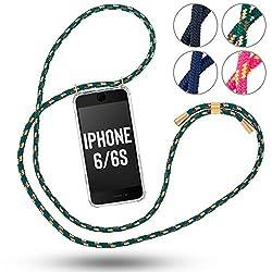 RebelCords kompatibel mit iPhone 6/6s Handykette inklusive Handyhülle | Smartphone Umhängeband für Arbeit, Freizeit, Shopping, Ausgehen etc. | Verliere nie mehr dein Handy