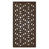 NISH! MDF Jali | Geometric Design | Can be used as Room Partitions, Screens, Dividers, Jali, Wall Art, Hanging, Décor, Doors (MDF Wood - 12mm thick, 4ft x 8ft, Natural Color, 1 Piece) for Living Room, Drawing Room, Kitchen Cabinet, Cupboards, Furniture