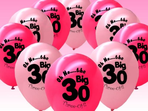 20 Fuschia And Pink 30th Birthday Party Balloons