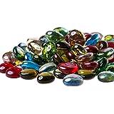Glasnuggets - bunt - Premium - ca. 500g - Mix - 16-21mm - Dekosteine - Glassteine