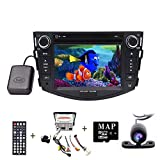17,8cm WinCE Head Unit per Toyota RAV42006–2011double DIN in dash lettore DVD GPS Navigation stereo Support USB/SD/iPod/3G/1080p/Bluetooth/Steering Wheel Control