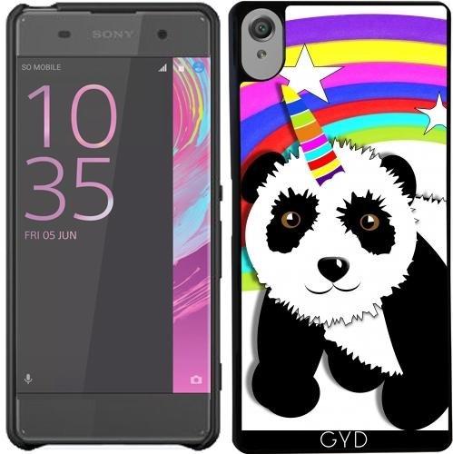 Hülle für Sony Xperia X - Niedlichen Panda Einhorn-Regenbogen by Blingiton