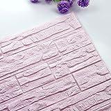 Luckhome - Fototapete Ziegel Optik 60x60cm - Ziegelstein muster Tapete - Moderne Wanddeko - Design Tapete - Wandtapete - Wand Dekoration - Steintapete Steine Brick Mauer Beton 3D (D)