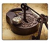 Mousepads Vintage Old Rusty Vorhängeschloss mit Schlüssel und Pocketwatch auf alte Landkarte Stillleben Bild 36850294von MSD Matte Individuelle Desktop Laptop Gaming Mauspad