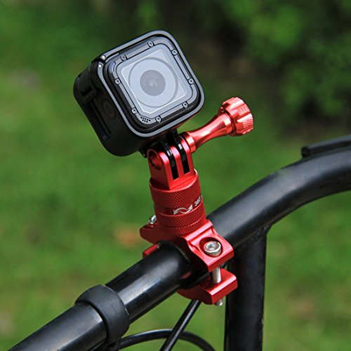 Descripción:  El soporte de cámaras para manillar de Puluz puede adaptarse en cualquier cosa, desde manillares hasta bastones de esquí, etc. Gracias a la abrazadera puedes montar tu cámara en cualquier tubo redondo o semirredondo que tenga entre 12y...