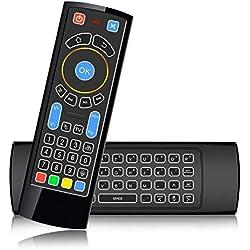 Szilbz Mini Clavier Bluetooth CR3 sans Fil avec télécommande à air avec rétroéclairage, idéal pour Amazon Fire TV et Fire TV Stick Android, HTPC, IPTV, PC, Raspberry Pi 3