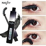 SHOBDW Curling Black Wasserdichte Faser Rotierenden Curved Mascara Makeup Eye Lashes (One Size, Schwarz)