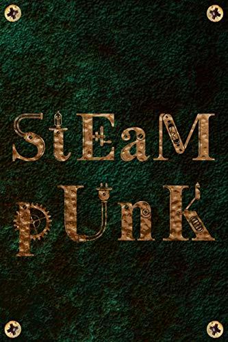 Steampunk: Copper Gold Retro Steam Powered Machine Lined Journal