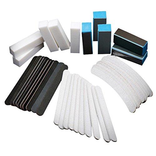 BYSTE 40PCS Nail art carteggiatura Files Buffer Block Manicure Utensili Pedicure UV Gel Impostato Professionale Kit