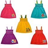Eazy Trendz Baby Cotton Frocks - Set of 5