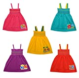 #1: Eazy Trendz Cotton Girl's Frocks (EZKF24, Multicolour) - Set of 5