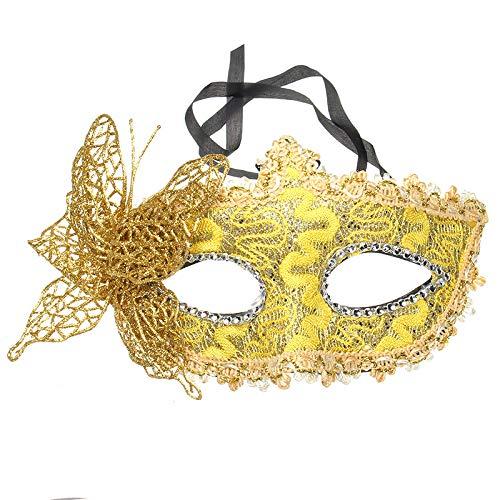 Kostüm Anime Zeichnung - HKHZWHMJ Halloween Kostüm Gold Maske Maskerade Party Make-up Maske DIY Zeichnung Geschenk