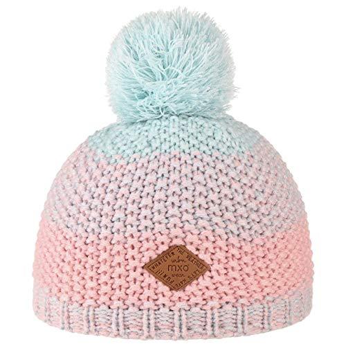 3291821033692 maximo Bonnet d'hiver en maille pompon chapeau bébé, rose/bleu
