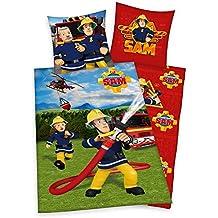 Sam El Bombero - Fireman Sam - Niños Ropa de Cama Juego de Cama Reversible Linon 80/80 x 135/200cm