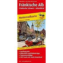 Fränkische Alb - Fränkische Schweiz - Altmühltal: Motorradkarte mit Tourenvorschlägen, Ausflugszielen, Einkehr- und Freizeittipps, reissfest, wetterfest, abwischbar. 1:200000 (Motorradkarte/MK)
