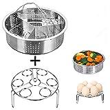 Juego de 3 cestas de acero inoxidable para cocina, cocina, comedor y otros accesorios al instante