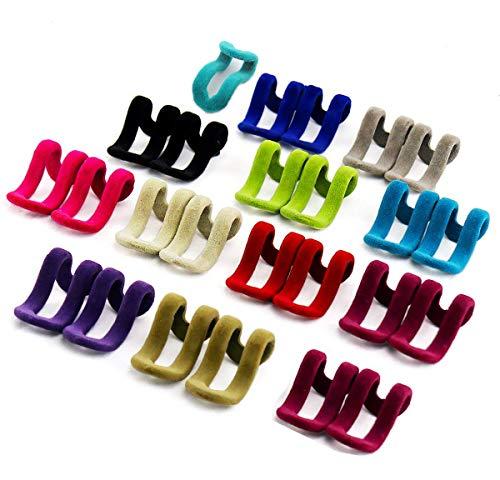 25 Piezas Mini flocado perchas Rack Hanger Holder