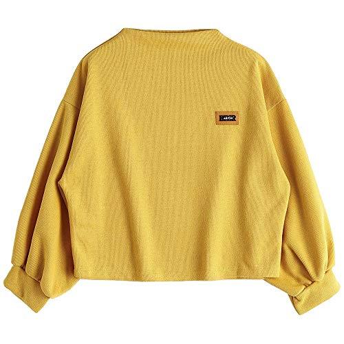 Qmber Frauen Langarm Kapuzenpullis, Damen Hoodies Langarm Kapuzenpulli Sweatshirt Pullover Tops Bluse Stickerei Kapuzen Sweatshirt