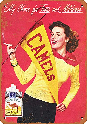JIA KOAH Cheerleaders for Camel Cigarettes Blechschild Metall dekorative Wand Poster Souvenir