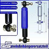 AL-KO 244085 Achsstoßdämpfer Anhängerstoßdämpfer Octagon PLUS blau 1350kg