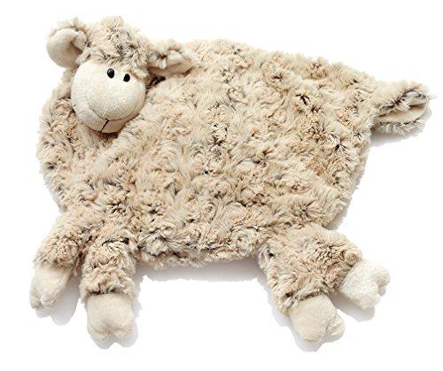 HanSen Plüsch Schaf Bezug für Wärmeflasche / braun / 38 x 34 cm / kuschelweich / Stofftier Kuscheltier Plüschtier / Lamm Lämmchen / für Babys und Kinder / natur
