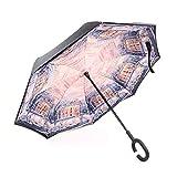 Regenschirm Taschenschirm Automatikschirm Winddicht kompakt und leicht und stabil,Reverse...