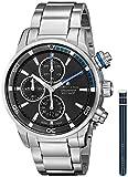 Maurice Lacroix Pontos S Automatik Uhr, Edelstahl, Schwarz/Blau