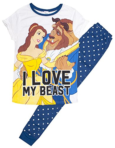 Get Wivvit Disney Beauty & The Beast Love Ladies Pyjamas