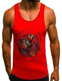 OZONEE Herren Tanktop Tank Top Tankshirt T-Shirt mit Print Unterhemden Ärmellos Weste Muskelshirt Fitness Madmext 1323