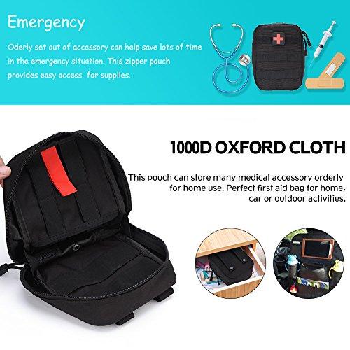 51k08gWSF6L - Bolsa de botiquín de Primeros Auxilios Bolsa de botiquín de Primeros Auxilios Bolsa de Utilidad médica para el Lugar de Trabajo en el hogar Camping Viajes(Black)