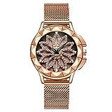 Or Rose Femme montres Bracelet en acier inoxydable avec diamant de luxe montre pour...