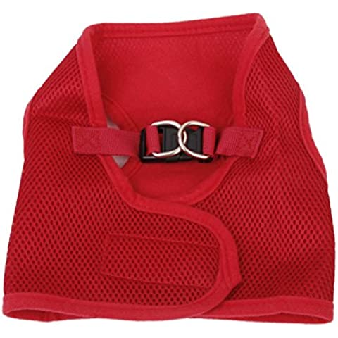 Pixnor Mesh traspirante giacca di imbracatura per Petit cucciolo - taglia XS (rosso)