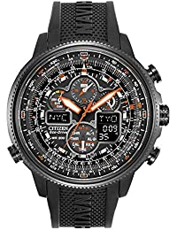 5201aeae585 Citizen Mens Chronograph Solar Powered Watch with PU Strap JY8035-04E