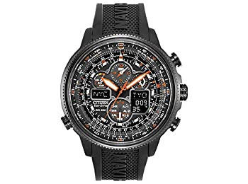 Citizen Mens Chronograph Solar Powered Watch with PU Strap JY8035-04E_BLK