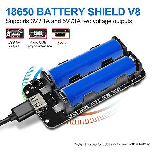Diymore 18650 Battery Shield V8 3V 5V Puerto USB Micro