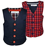 #2: ShopperTree Checked Linen WaistCoats for Boys (Pack Of 2)