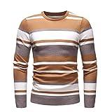 Sweatshirt Herren Langarmshirt Herbst Slim Langarm Streifen Outwear Männer Pullover Vintage T-Shirt Btruely Winter Strickpullover Rundhals Langarmhemd