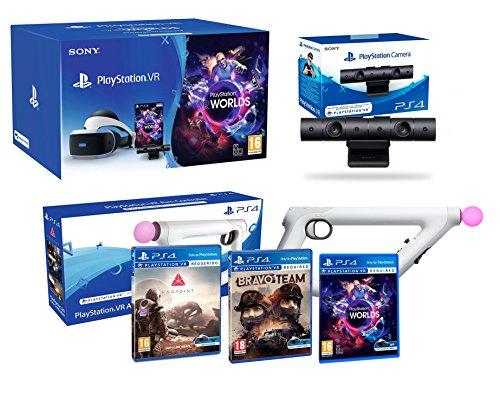 "PlayStation VR ""Shooter Pack"" Bravo Team + Farpoint + Aim Controller + VR Worlds + Cámera V2"