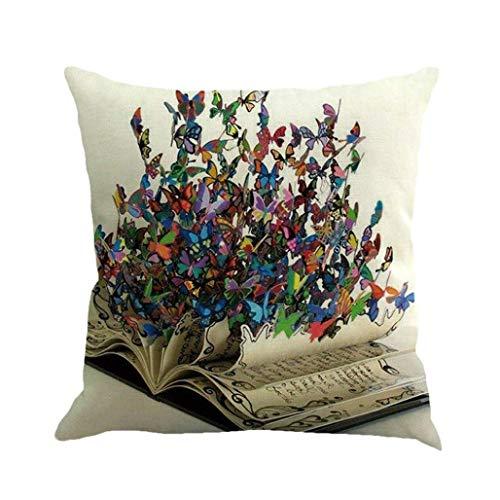 Innenkissen Kopfkissen Kissenbezug 45 x 45 cm Schmetterling Malerei Throw Taille Kissenhülle Sofa Home Decor Pillow Cover (A) Waschbar Mit Füllung F
